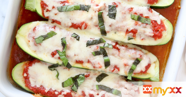 Veggie Lasagna Zucchini Boats