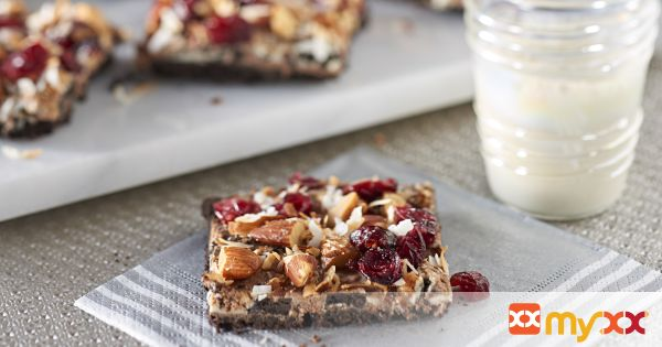 Double Oreo Bars with Cranberries, Coconut & Almonds