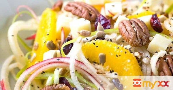 Spiralized Apple Salad with Citrus Dressing