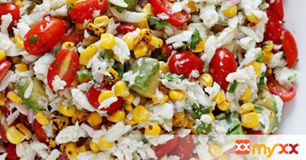 Crab, Corn, Tomato and Avocado Salad