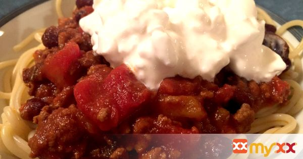 Kid Friendly Chili with Noodles