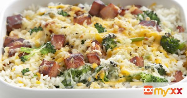 Ham and Cheese Bake with Broccoli