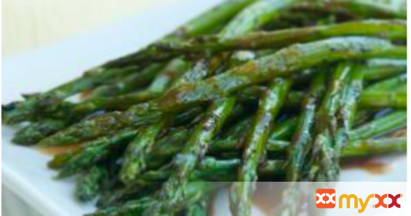 Roasted Asparagus with Balsamic Maple Dressing