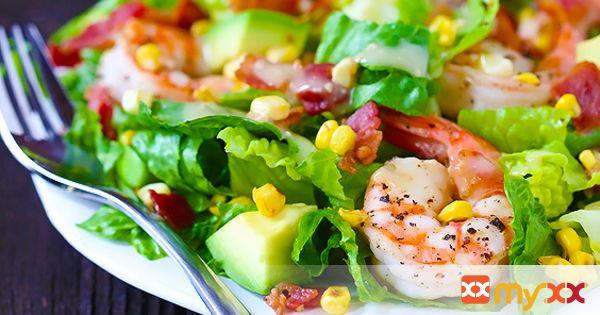 Shrimp, Avocado and Roasted Corn Salad