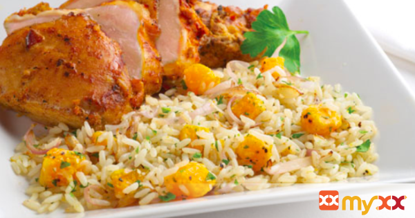 Rice Pilaf with Butternut Squash