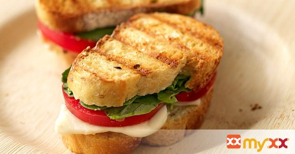 Weight Watchers Fresh Mozzarella and Tomato Paninis