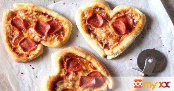 Valentine's Pizza Hearts