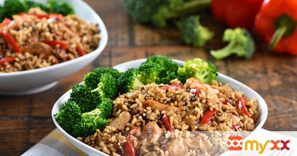 Stir-Fry Chicken with Wholegrain Rice