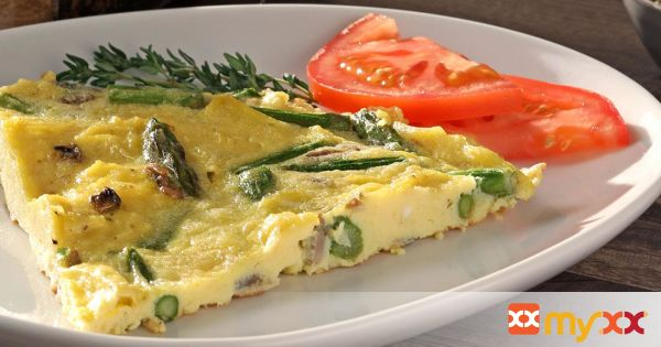Egg Frittata with Mushrooms and Asparagus