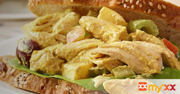 Apple and Curry Chicken Salad