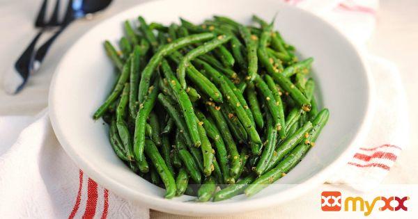 Basil Garlic Green Beans