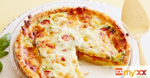 Hash Brown, Tomato and Mozzarella Quiche