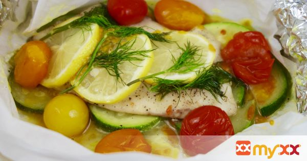Lemon Dill Hobo Tilapia with Veggies