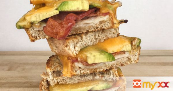 Turkey Bacon Avocado Grilled Cheese