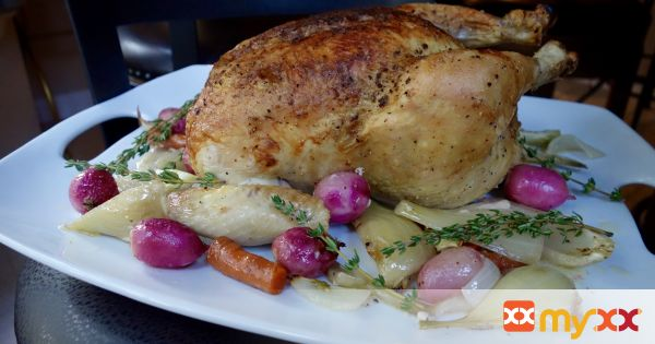 Juicy Herb Roasted Chicken and Vegetables
