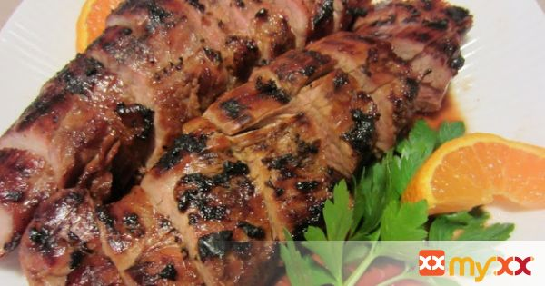 Grilled Orange Pork Tenderloin