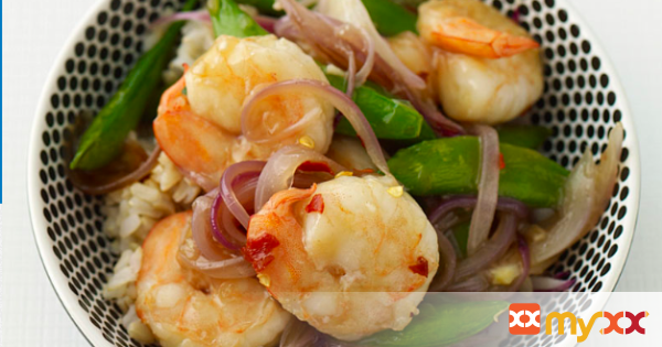 Weight Watchers Asian Skillet Shrimp and Sugar Snap Peas