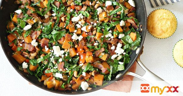 New Year's Day Sweet Potato Hash