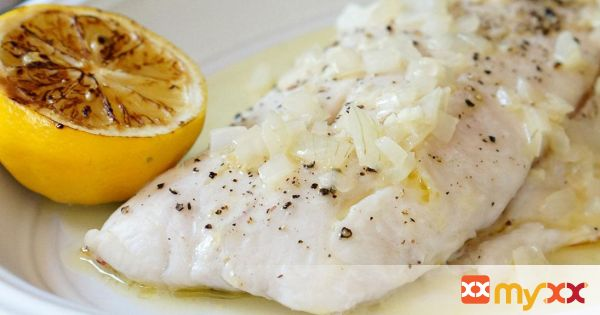 Broiled Snapper with Lemon Butter Sauce