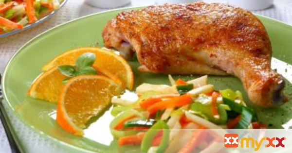 BBQ Chicken with Orange Garlic Sauce