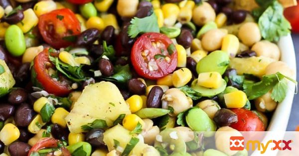 Pineapple Three Bean Salad