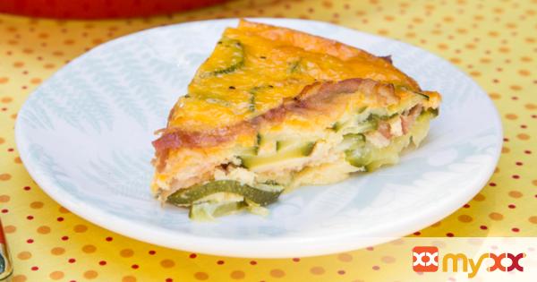 Zucchini & Bacon Egg Bake
