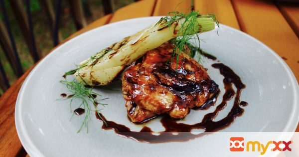 Grilled Chicken and Fennel With a Honey Balsamic Glaze