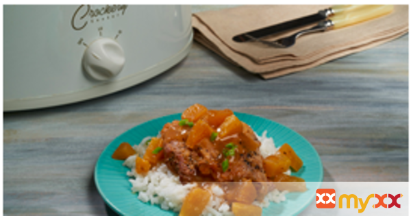 Pineapple Glazed Chicken Thighs- Crockpot