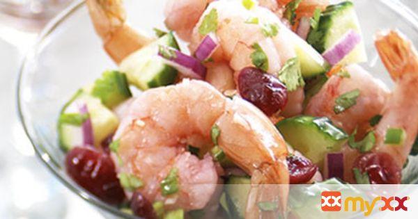 Blushing Shrimp Ceviche