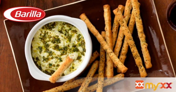 Barilla 3 Cheese & Basil Pesto Dip