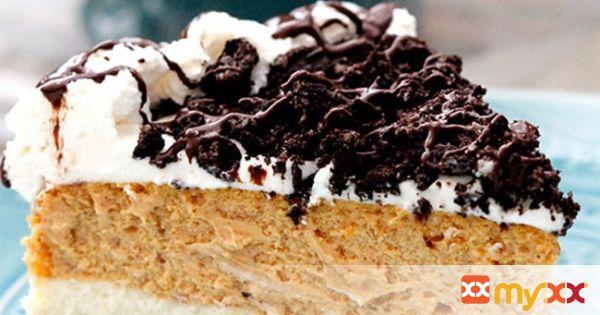Double Layer Pumpkin Oreo Cheesecake