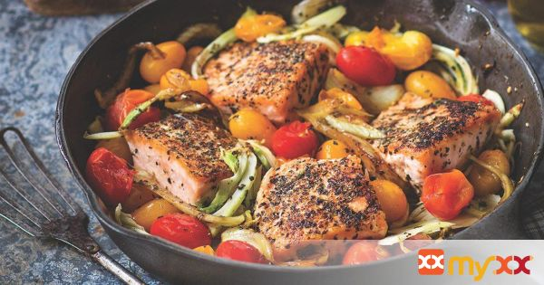 Mediterranean Pan Roasted Salmon