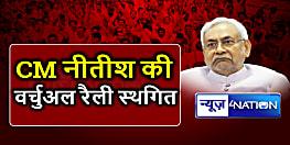 आखिरकार CM नीतीश ने स्थगित की वर्चुअल रैली,कोरोना संकट और बाढ़ में भद्द पिटने के डर से रद्द की रैली
