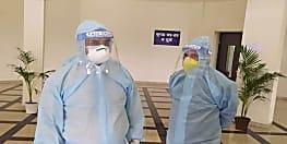 स्वास्थ्य मंत्री मंगल पांडेय का PPE किट पहनकर जारी है अस्पताल का विजिट,आज पहुँच गए कंगनघाट कोविड हॉस्पिटल