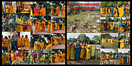आई डब्ल्यू सी पटना वनश्री ने वार्षिकोत्सव जागरण के अवसर अमहरा स्थित माँ वनदेवी का दर्शन किया...सभी को उपहार में दिया पेड़