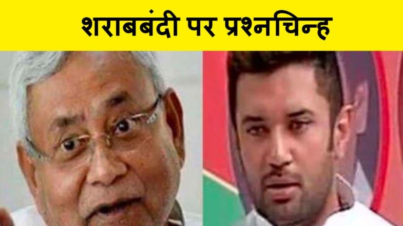 इस बार चिराग पासवान ने CM नीतीश के सपनों पर किया चोट कहा-पूर्ण शराब बंदी वाले राज्य में शराब की बिक्री होना दावों पर प्रश्न चिन्ह खड़ा कर रहा