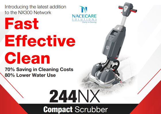 NaceCare Introduces the  most advanced and exciting Floor Care technology 244NX Ultra Compact Scrubber