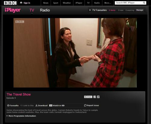 BBC travel show features Nagomi Visit