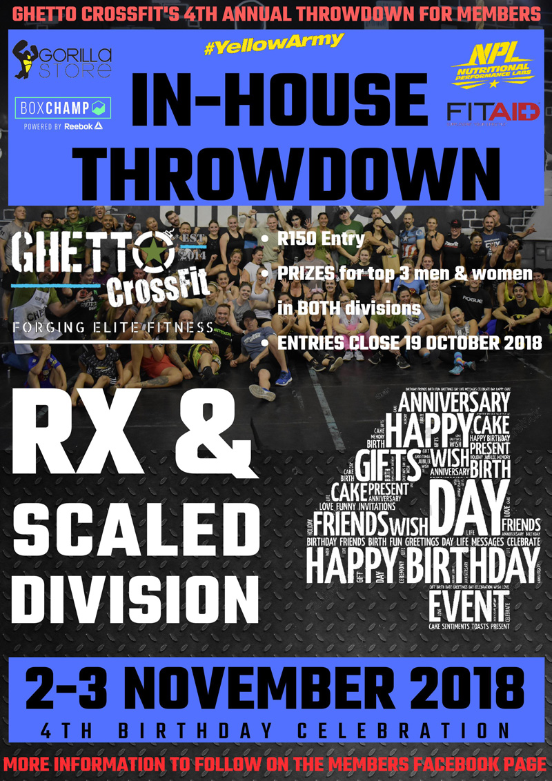 4th Annual Ghetto CrossFit Throwdown 2018