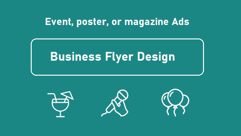 Design event and party, business flyer, poster, or magazine ad