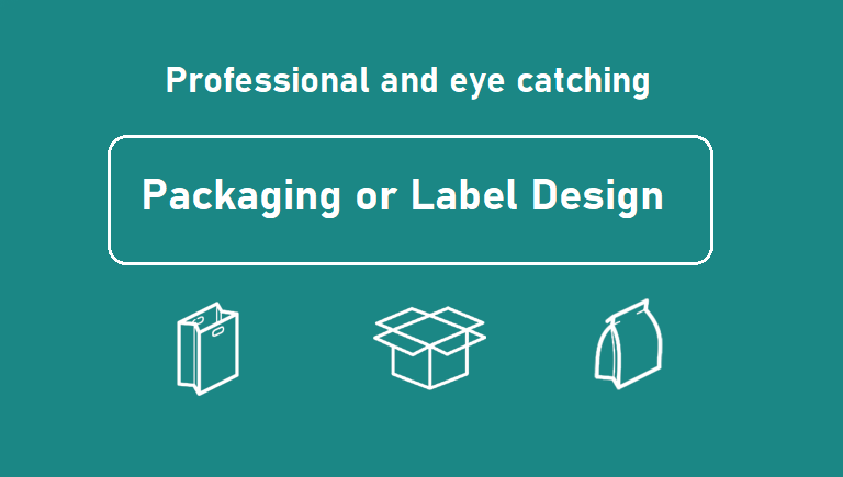 Design professional product packaging and label design for your brand