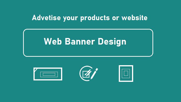 Design web banner for ads on facebook google or youtube