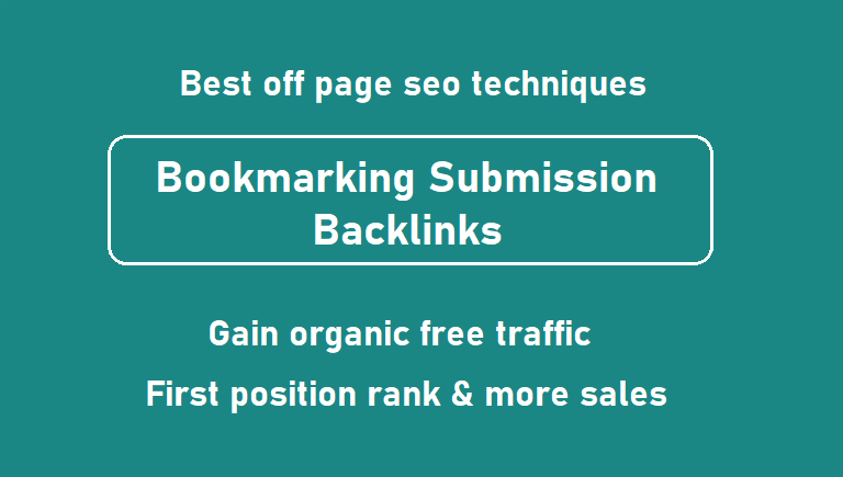 Get 50 dofollow bookmarking submission backlinks from unique websites