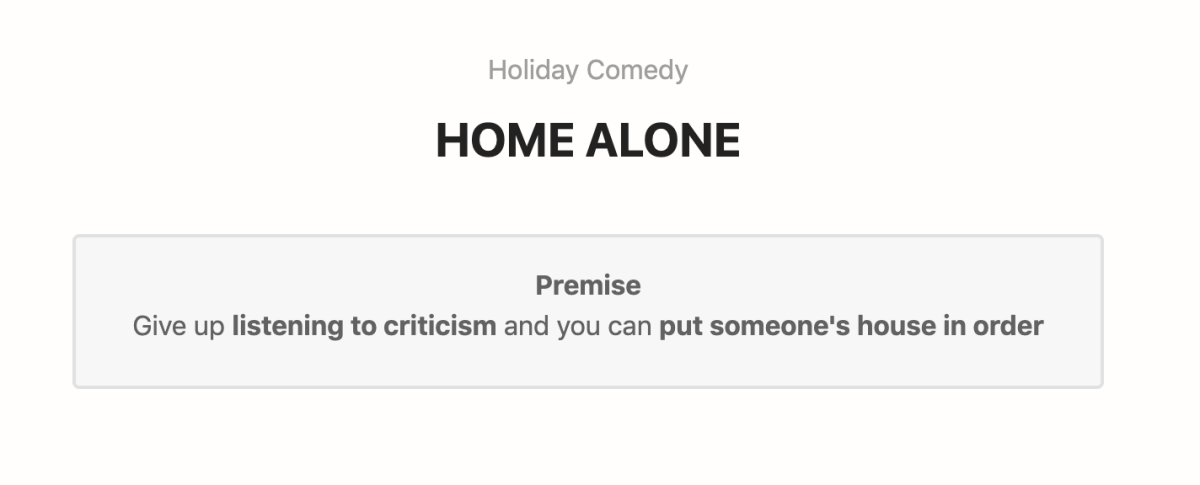 The Premise for Home Alone