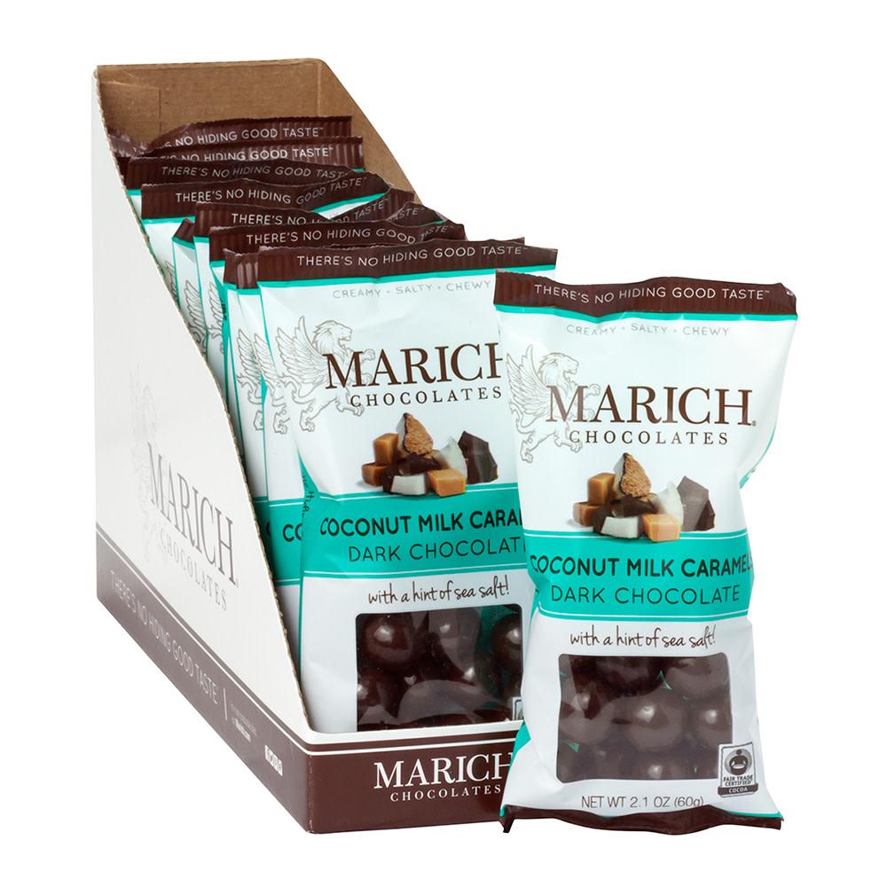 marich dark chocolate coconut milk caramels 2 1 oz