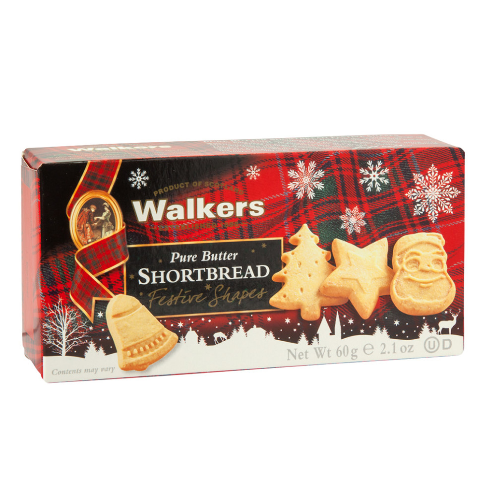 Walkers Shortbread Festive Shapes Cookies 2 1 Oz Box
