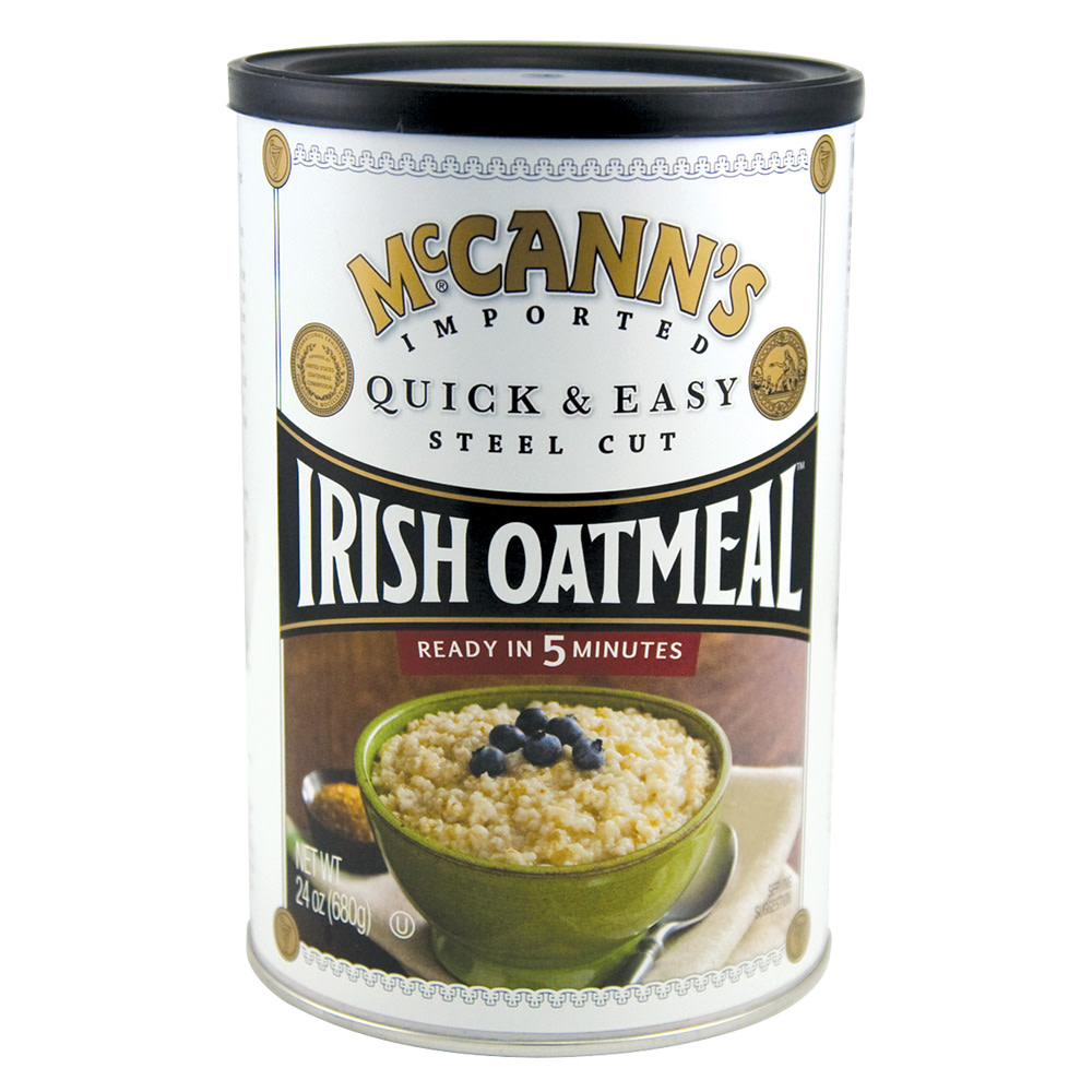 mccann's quick and easy steel cut irish oatmeal 24 oz canister