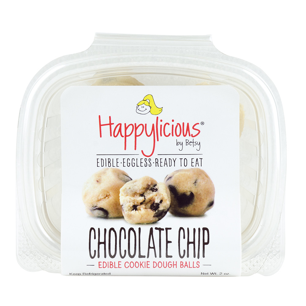 Happylicious Edible Chocolate Chip Cookie Dough 2 Oz Tub Fl Dc Only