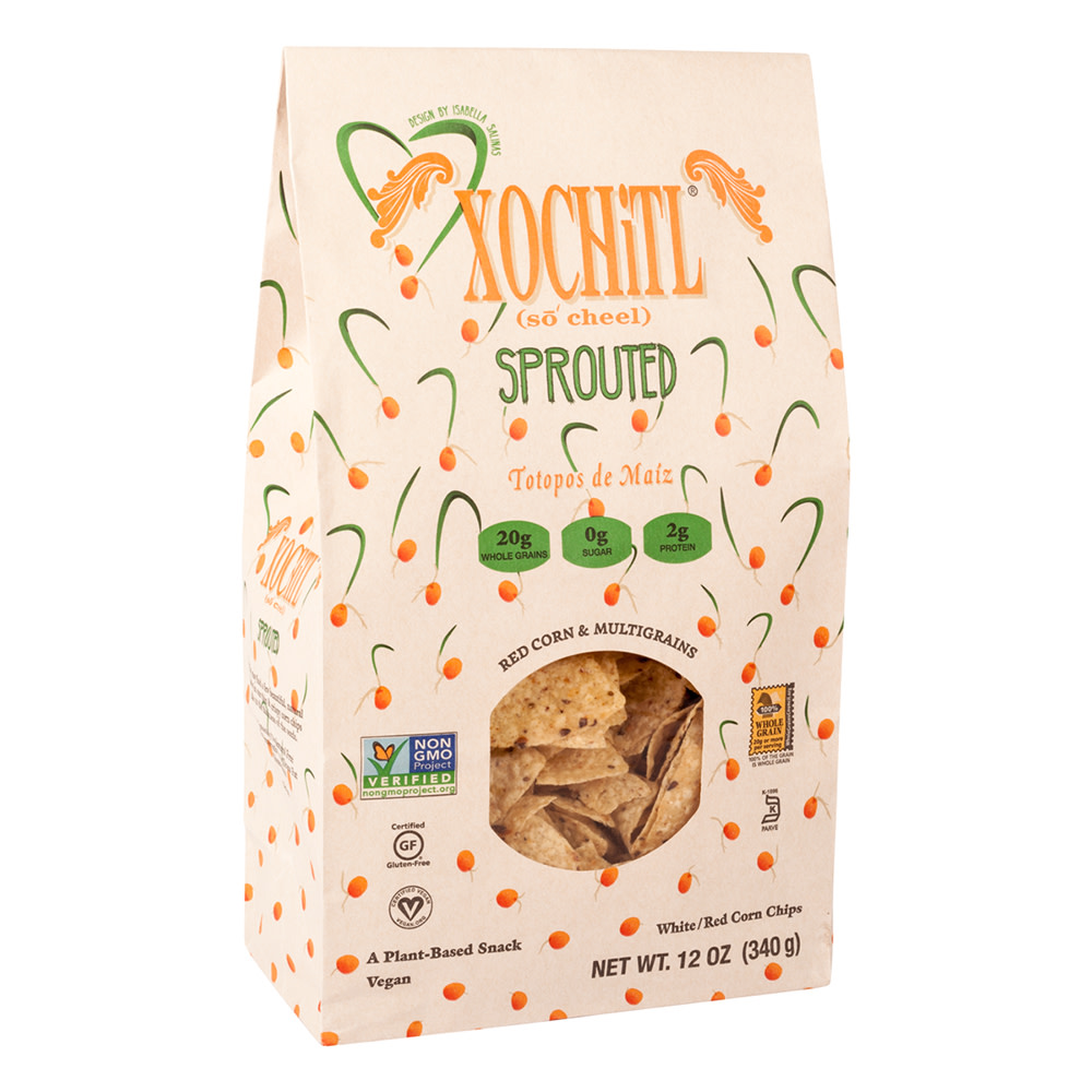 XOCHITL SPROUTED TORTILLA CHIPS 12 OZ BAG