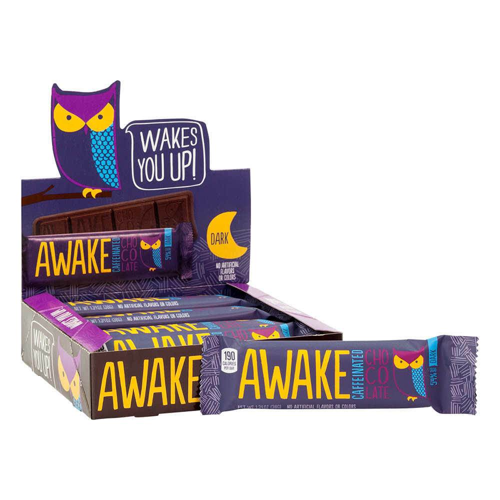 Awake Caffeinated Dark Chocolate 134 Oz Bar